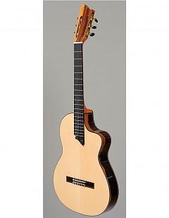 Guitarra clásica con cutaway Intiluna