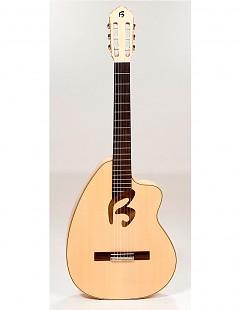 Guitarra clásica con cutaway Jopi