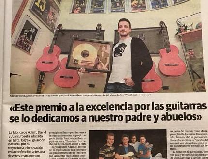 Premio Nacional a Guitarras Bros  y Premio a la mejor empresa de Gata.